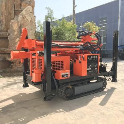 履带打井机 气动高效水井钻机150米岩石钻机