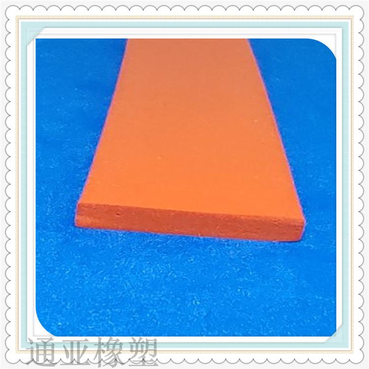 红色硅胶平板耐高温密封条