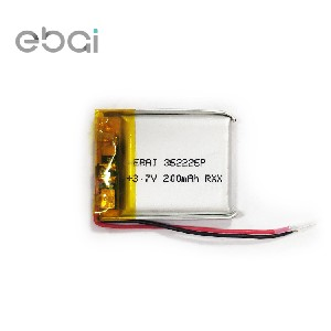 录音笔导航仪儿童智能手表内置充电3.7V362226超薄220mah电池