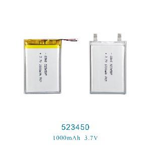 523450 503450聚合物锂电池1000mAh翻译机龙岩血氧仪血压计电池