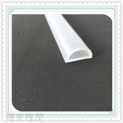 白色硅胶D型密封条