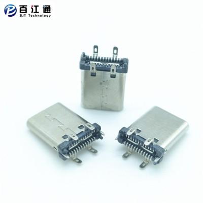TYPE-C24P公头立式SMT180度H=11.10mm