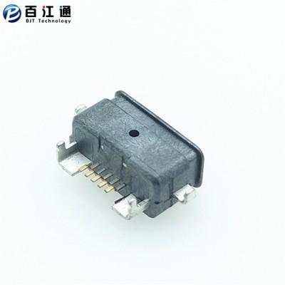 MICRO 沉板防水USB母座5PIN  贴片式 沉板2.1