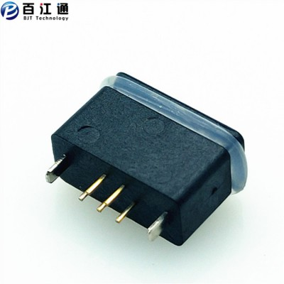 防水micro立插母座  5PIN 直立式插板 IPX7