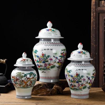 陶瓷酒瓶1斤装百鹿将军罐家用密封陶瓷酒瓶