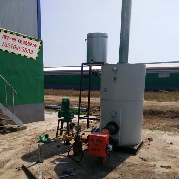 沼气锅炉的原理优势及使用说明、燃气锅炉猪舍安装图