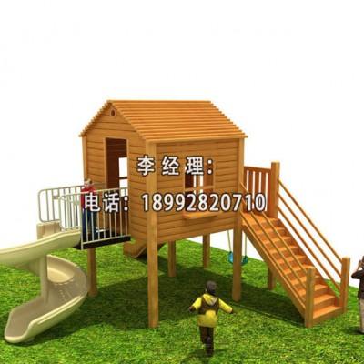 西安室外木质儿童组合滑梯设备厂家批发