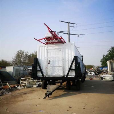 厂家定制移动式升降方舱 应急通信拖挂方舱 车轮式应急通信站