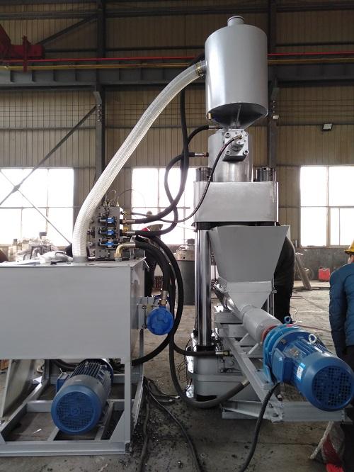新疆全自动铁屑压块机金属屑压块机压饼机压力大磨耗低l