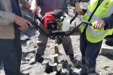 巩义市雷力手提式挖坑机,适用各种地形,工作效率高!