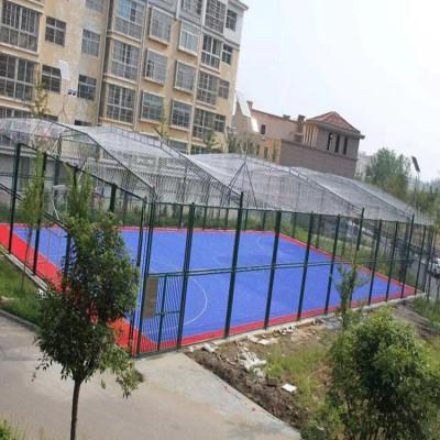 日照体育场围栏 铁丝笼式足球场围网 操场护栏定制