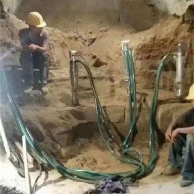 深圳深井岩石破碎设备液压分裂机